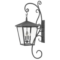 Hinkley 1439DZ Trellis 4 Light 52 inch Aged Zinc Outdoor Wall Mount in Candelabra, Extra Large