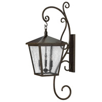 Hinkley 1439RB Trellis 4 Light 52 inch Regency Bronze Outdoor Wall Mount in Candelabra, Clear Seedy Glass