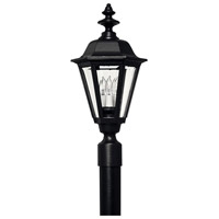 Hinkley Lighting Manor House 1 Light Post Lantern (Post Sold Separately) in Black 1441BK
