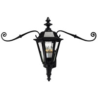 Hinkley Lighting Manor House 1 Light Outdoor Wall Lantern in Black 1445BK