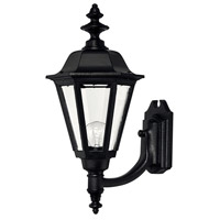 Hinkley Lighting Manor House 1 Light Outdoor Wall Lantern in Black 1449BK