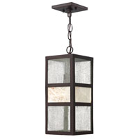 Hinkley 1452SB-GU24 Sierra 1 Light 6 inch Spanish Bronze Outdoor Hanging, Clear Seedy Glass