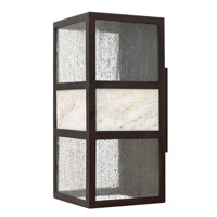 Sierra 1 Light 15 inch Spanish Bronze Outdoor Wall Lantern in Energy Star, Compact Fluorescent
