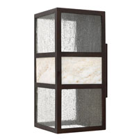 Sierra 1 Light 15 inch Spanish Bronze Outdoor Wall in GU24, Clear Seedy Glass