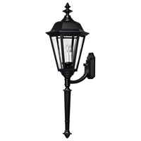 Hinkley Lighting Manor House 1 Light Outdoor Wall Lantern in Black 1470BK