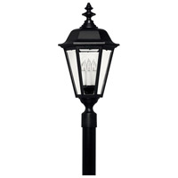 Manor House 4 Light 28 inch Black Outdoor Post Mount