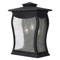 Hinkley Lighting Richmond 3 Light Outdoor Wall Mount in Museum Black 1485MB