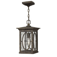 Hinkley Lighting Randolph 1 Light Standard Outdoor Hanging Lantern in Autumn 1492AM