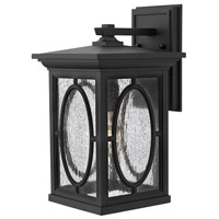 Hinkley 1494BK Randolph 1 Light 15 inch Black Outdoor Wall Mount in Incandescent