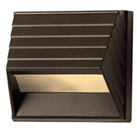 Hinkley 1524BZ-LED Signature 12V 1.5 watt Bronze Landscape Deck in LED, Square Sconce