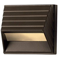 Hinkley 1524BZ Signature 12V 7 watt Bronze Landscape Deck in Incandescent, Square Sconce