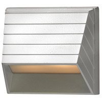 Signature 12V 7 watt Matte White Landscape Deck in Incandescent, Square Sconce