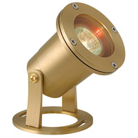Hinkley Lighting Signature 1 Light Low Volt 50W MR16 Submerisble Pond Landscape Spot Accent in Brass 1539BS