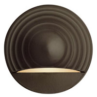 Hinkley Lighting Round Eyebrow 1 Light LED Deck in Bronze 1549BZ-LED