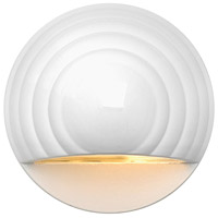 Hinkley Lighting Round Eyebrow 1 Light LED Deck in Matte White 1549MW-LED