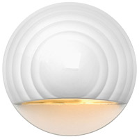 Signature 12V 7 watt Matte White Landscape Deck in Incandescent, Round