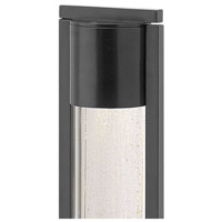 Hinkley 15607BK Shelter 12V 35 watt Black Landscape Bollard in MR-16, Clear Acrylic and Seedy Glass alternative photo thumbnail