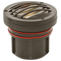 Hinkley 15705BZ-8W3K Signature 12 7.5 watt Bronze Landscape Well Light in 3000K LED 8W Grill Top