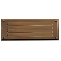 Hardy Island 12V 3.8 watt Matte Bronze Landscape Deck in LED, Combo Mount