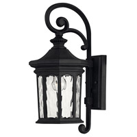 Hinkley 1600MB Raley 1 Light 17 inch Museum Black Outdoor Wall Mount