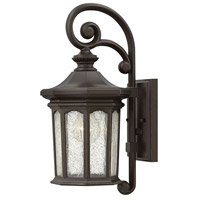 Hinkley 1600OZ Raley 1 Light 17 inch Oil Rubbed Bronze Outdoor Wall Mount, Clear Water Glass Panels
