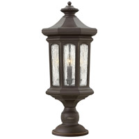 Hinkley 1601OZ Raley 4 Light 26 inch Oil Rubbed Bronze Outdoor Post Mount in Candelabra, Clear Water Glass Panels alternative photo thumbnail