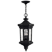 Hinkley 1602MB-LL Raley LED 12 inch Museum Black Outdoor Hanging Light in Clear Water