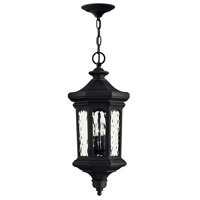 Raley 4 Light 12 inch Museum Black Outdoor Hanging Light in Candelabra