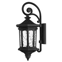 Hinkley Lighting Raley 1 Light Outdoor Wall Lantern in Museum Black 1604MB-EST