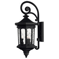 Hinkley 1604MB-LL Raley LED 26 inch Museum Black Outdoor Wall Mount in Clear Water