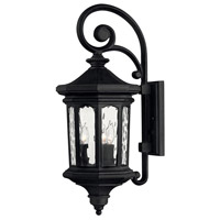 Hinkley 1604MB Raley 3 Light 26 inch Museum Black Outdoor Wall Mount in Candelabra