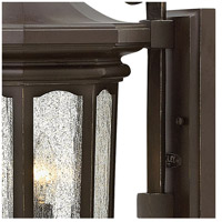 Hinkley 1604OZ Raley 3 Light 26 inch Oil Rubbed Bronze Outdoor Wall Mount in Candelabra, Clear Water Glass Panels alternative photo thumbnail