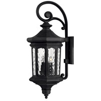 Hinkley 1605MB-LL Raley LED 32 inch Museum Black Outdoor Wall Mount in Clear Water Large