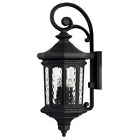 Raley 4 Light 32 inch Museum Black Outdoor Wall Mount in Candelabra