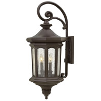 Raley 4 Light 32 inch Oil Rubbed Bronze Outdoor Wall Mount in Candelabra, Clear Water Glass Panels