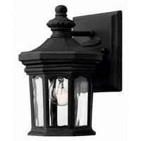 Hinkley Lighting Raley 1 Light Outdoor Wall Lantern in Museum Black 1606MB photo thumbnail