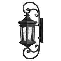 Hinkley Lighting Raley 1 Light Outdoor Wall Lantern in Museum Black 1609MB-ES photo thumbnail