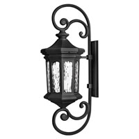 Hinkley Lighting Raley 1 Light Outdoor Wall Lantern in Museum Black 1609MB-EST photo thumbnail