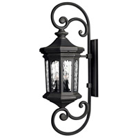 Raley 4 Light 42 inch Museum Black Outdoor Wall Mount in Candelabra