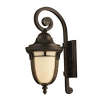 Hinkley 1614RB-GU24 Key West 1 Light 21 inch Regency Bronze Outdoor Wall, Antique Vanilla Glass
