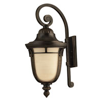 Hinkley 1615RB-GU24 Key West 1 Light 27 inch Regency Bronze Outdoor Wall, Antique Vanilla Glass