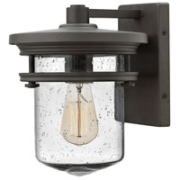 Hinkley Lighting Hadley 1 Light Outdoor Wall in Buckeye Bronze with Clear Seedy Glass 1620KZ