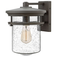 Hinkley 1624KZ Hadley 1 Light 13 inch Buckeye Bronze Outdoor Wall Mount, Clear Seedy Glass