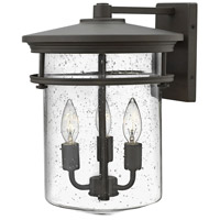 Hinkley 1625KZ Hadley 3 Light 15 inch Buckeye Bronze Outdoor Wall Mount, Clear Seedy Glass