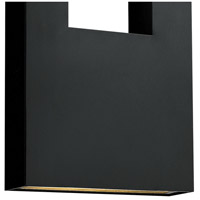 Hinkley 1639SK Atlantis 3 Light 36 inch Satin Black Outdoor Wall Mount in GU10, Etched Lens Glass alternative photo thumbnail
