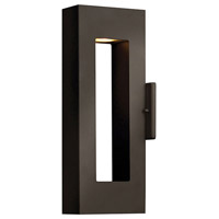 Atlantis 2 Light 16 inch Bronze Outdoor Wall Mount in GU10