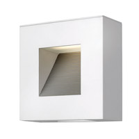 Hinkley 1647SW Luna 2 Light 9 inch Satin White Outdoor Wall Lantern in Etched Lens, Compact Fluorescent