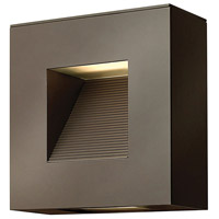 Luna LED 9 inch Bronze Outdoor Wall in Etched Lens