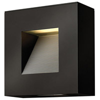 Luna LED 9 inch Satin Black Outdoor Wall in Etched Lens