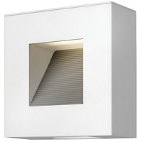 Luna LED 9 inch Satin White Outdoor Wall in Etched Lens